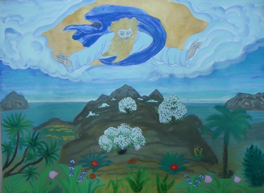Детские рисунки о сотворении мира